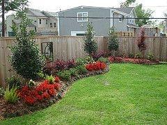 landscape ideas along a fence line   Bed Garden Design For Garden  Decoration : Fetching Garden Design Ideas