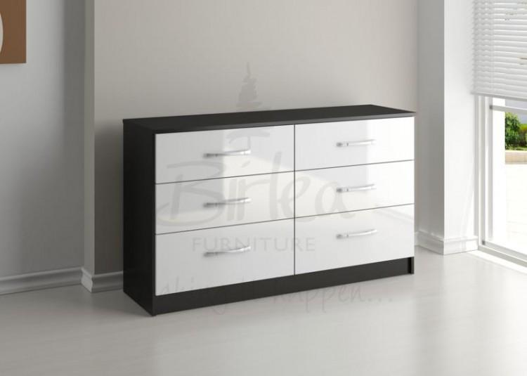 Romantico Tall 6 Drawer Wide Dresser