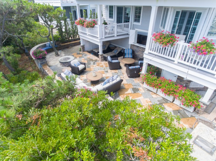 James Loudspeaker Outdoor Landscape Speakers bring all activities from the covered patio to the pool and uncovered patio