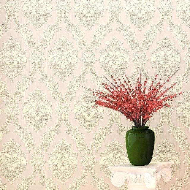 damask wall paper pink