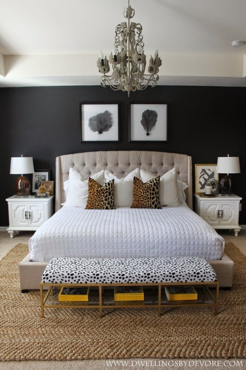 Outside of having a grand headboard that can cover a certain amount of