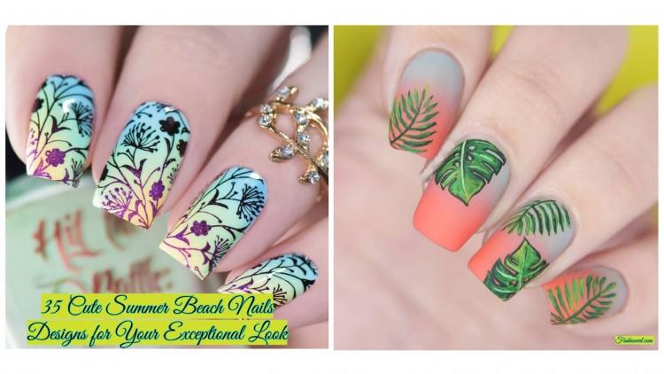 Nail Art:Tropical Beach Nail Art Designs Gel Nails Cute Tropical Design Interior Glass Designs