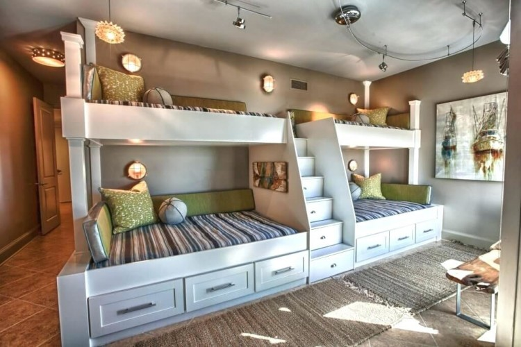 three beds in one room