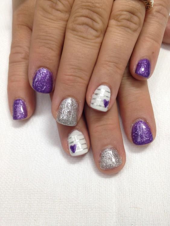 Pastel gel  nail polish manicure