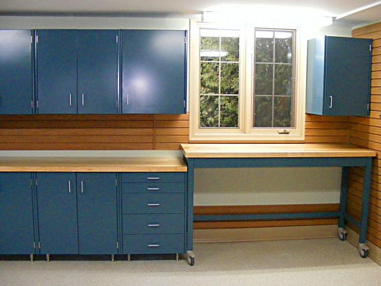 Image of: Garage Storage Cabinets Dark