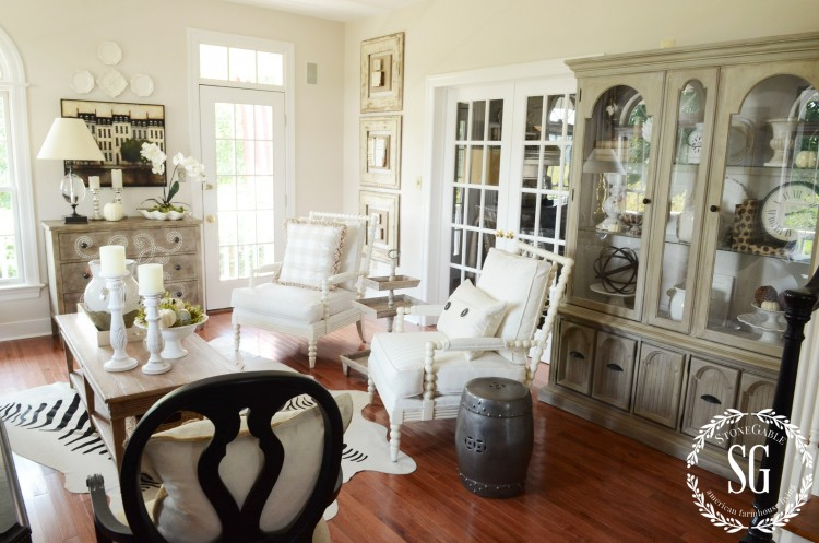 dining table set with hutch