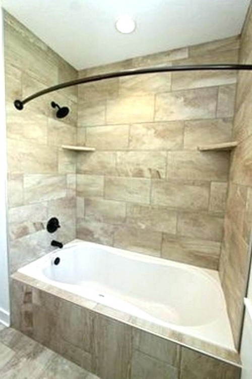 Marvelous Bathroom Upgrade Ideas Blue Subway Tile With Bathtub Shower Combo Design Ideas With Chrome