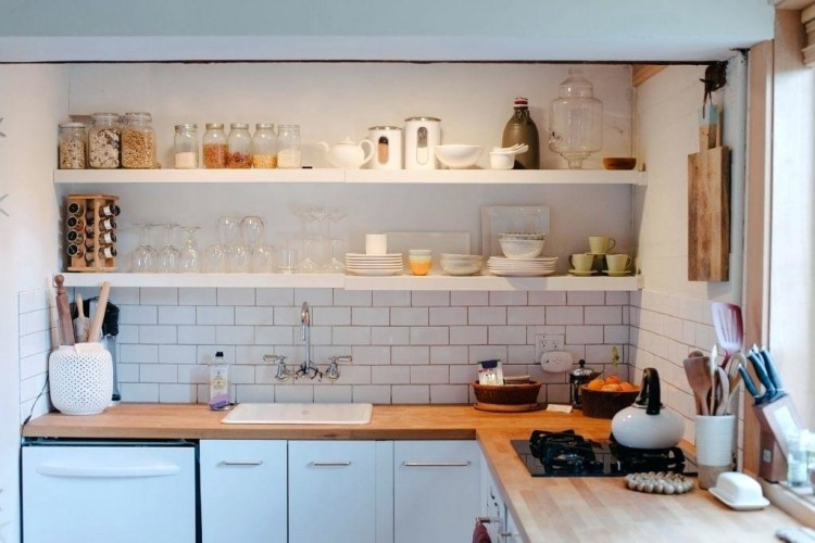 Kitchen Decoration Medium size Best Kitchen Shelving Ideas Then Scenic Photograph Open Design floating shelves farmhouse
