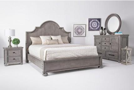 Rough Sawn 8 pc Queen Bedroom Set (Bedroom)