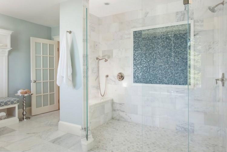 Purple marble bathroom tile