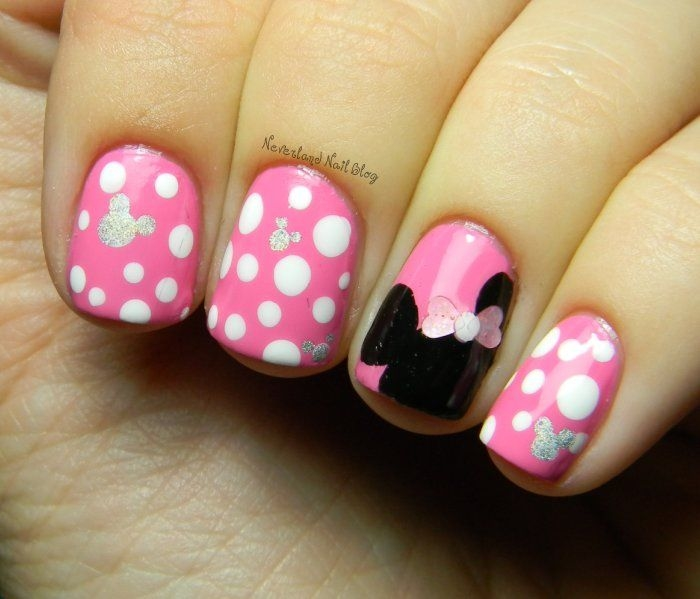 perfect minnie mouse nail designs for 25 minnie mouse nail art nail design ideaz page 2