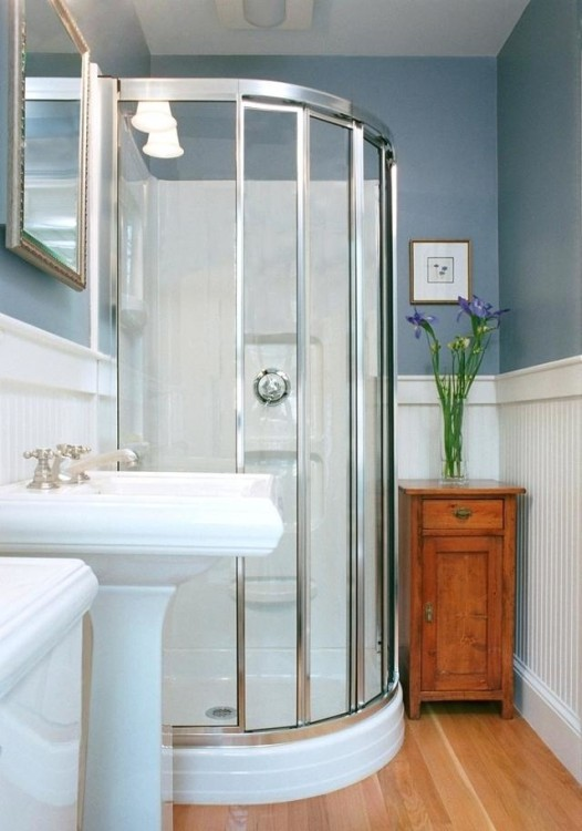 modern farmhouse half bath