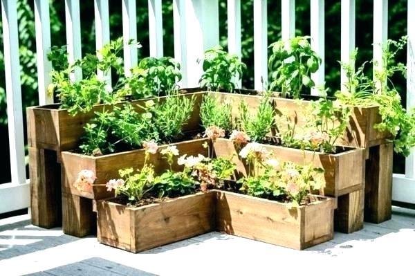 wooden crate planter diy crte s plnter wht