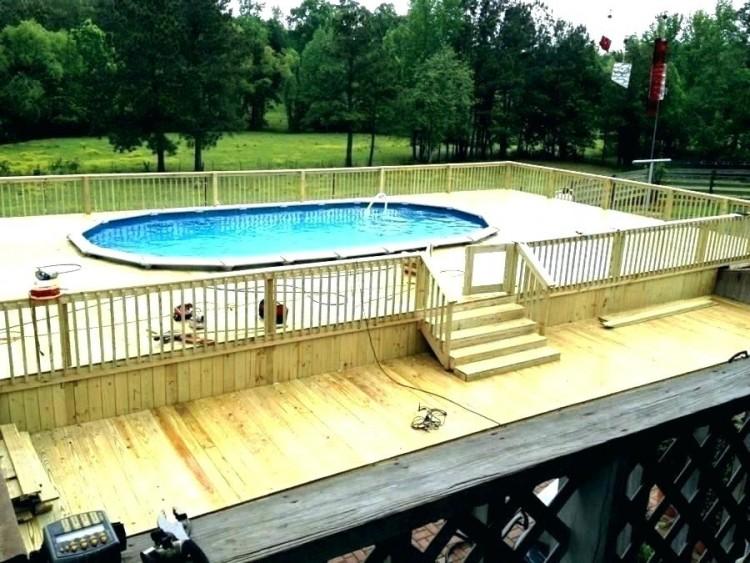 pool deck designs deck around above ground pool ideas treated wood above ground pool deck with