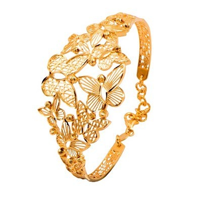 Image of Unique Design Hollow Bracelet For Men/Women Gold Color Vintage Big  Link Chain