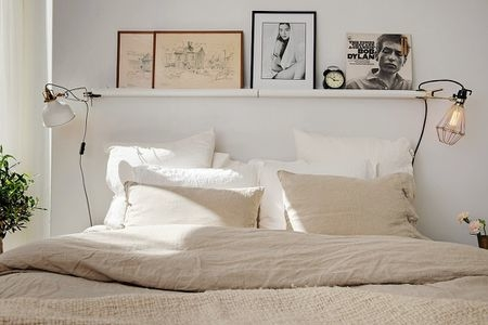 Make a room feel bigger and brighter with an oversize mirror